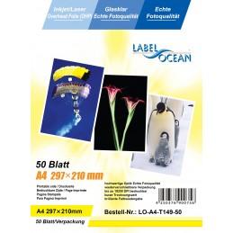 Folie Transparenta Retroproiector OHP LabelOcean A4 Laser si Jet de Cerneala 50 Coli