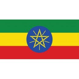 Drapel Autocolant Etiopia 5 cm