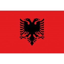 Drapel Autocolant Albania 5 cm