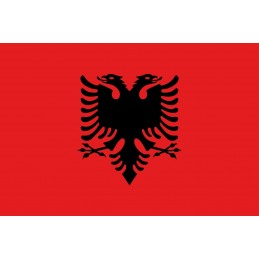 Drapel Autocolant Albania...