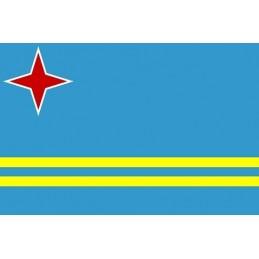 Drapel Autocolant Aruba 10 cm