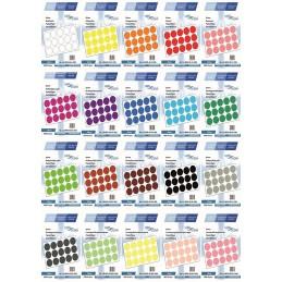 Etichete Autoadezive Buline Colorate Diametru 30 mm Hartie 1000 Bucati