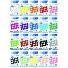 Etichete Autoadezive Buline Colorate Diametru 50 mm Hartie 1000 Bucati