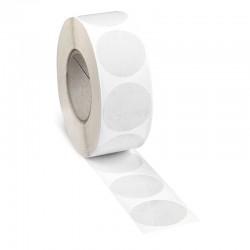 Etichete Autoadezive Transparente Rotunde de Sigilare Adeziune Medie 1000 Bucati