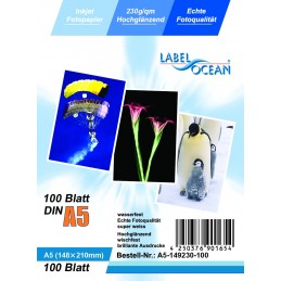 Hartie Foto A5 LabelOcean Premium High Glossy 230g 100 Coli