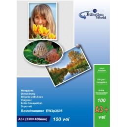 Hartie Foto A3+ 330x483 mm EtikettenWorld Premium High Glossy 260g 100 Coli