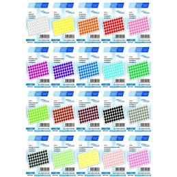 Etichete Autoadezive Buline Colorate Diametru 12 mm Plastic 1000 Bucati