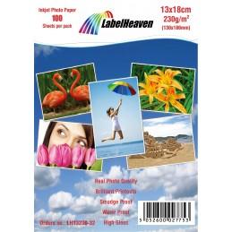 Hartie Foto 13x18 cm LabelHeaven Premium High Glossy 230g 100 Coli