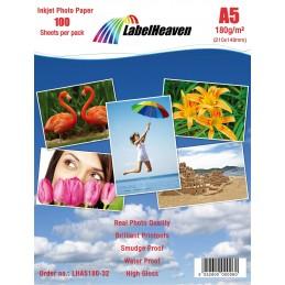 Hartie Foto A5 LabelHeaven Premium High Glossy 180g 100 Coli