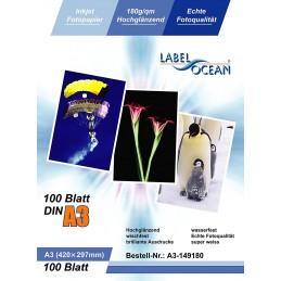 Hartie Foto A3 LabelOcean Premium High Glossy 180g 100 Coli