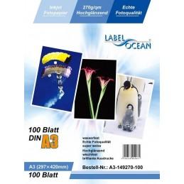 Hartie Foto A3 LabelOcean Premium High Glossy 270g 100 Coli