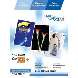 Hartie Foto A3+ Plus LabelOcean Premium High Glossy 230g 100 Coli