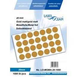 Etichete Autoadezive Buline Colorate Diametru 20 mm Folie Metalica 1000 Bucati
