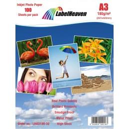 Hartie Foto A3 LabelHeaven Premium High Glossy 180g 100 Coli