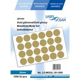 Etichete Autoadezive Buline Colorate Diametru 30 mm Folie Metalica 1000 Bucati