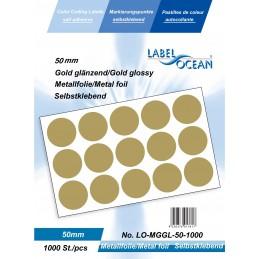 Etichete Autoadezive Buline Colorate Diametru 50 mm Folie Metalica 1000 Bucati