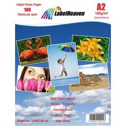 Hartie Foto A2 LabelHeaven Premium High Glossy 180g 100 Coli