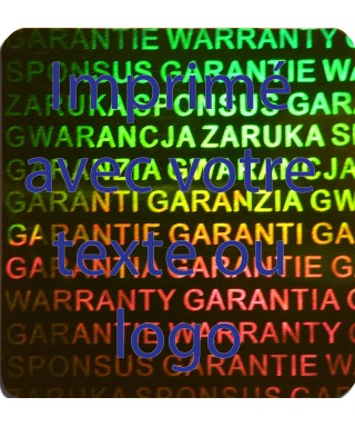 Holograme Garantie...