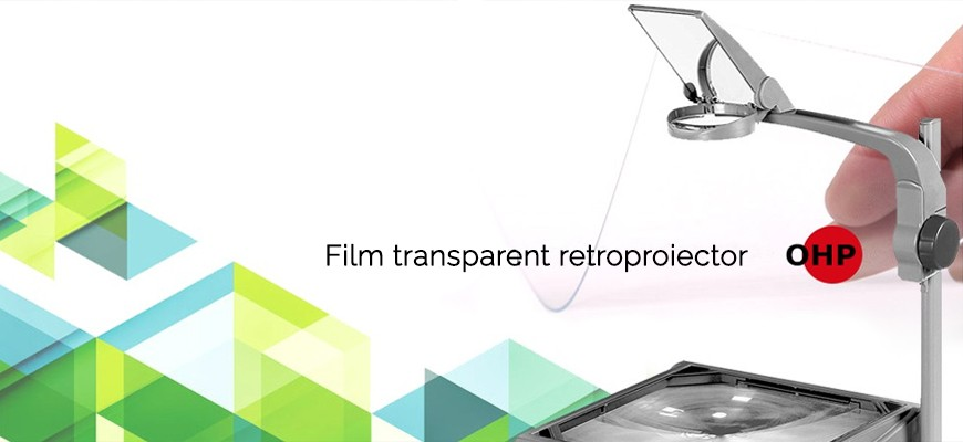 Film transparent retroproiector